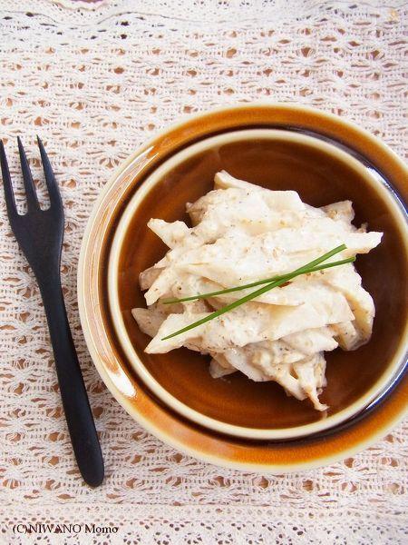 菊芋の胡麻マヨ和え