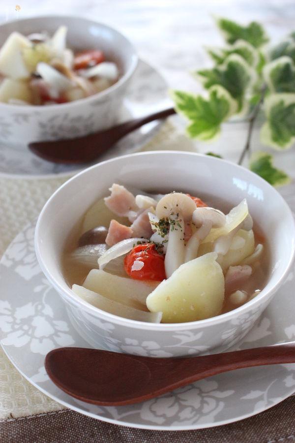 ジャガイモごろごろのほっこりスープ