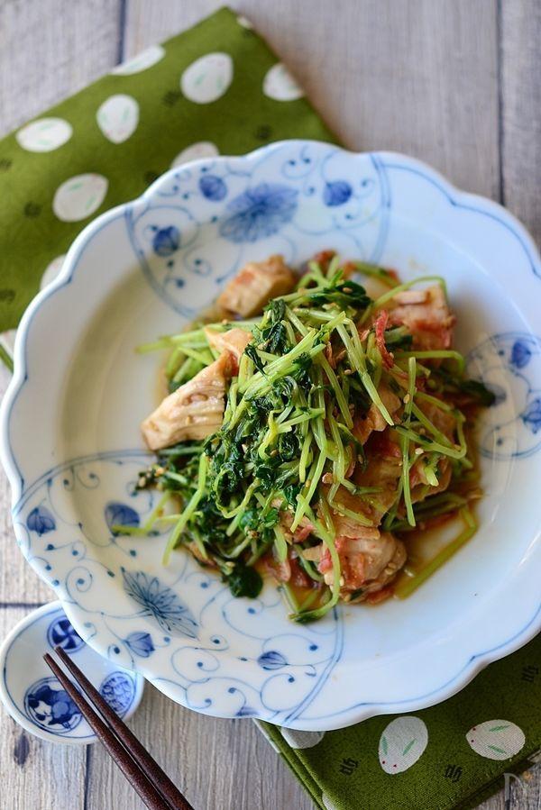 3. 鶏むね肉と豆苗の中華和え