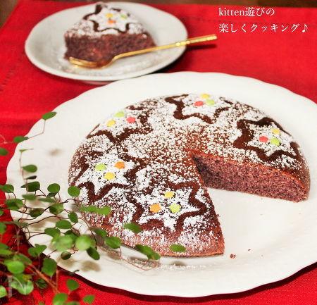 炊飯器deおからと紫芋のしっとりケーキ