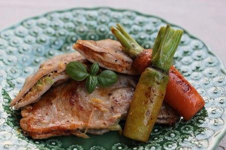 豚ロース肉のはさみ焼き