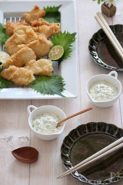 甘酢生姜のタルタルソース。