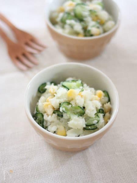 マヨなし♪塩麹&レモンのさっぱりポテサラ