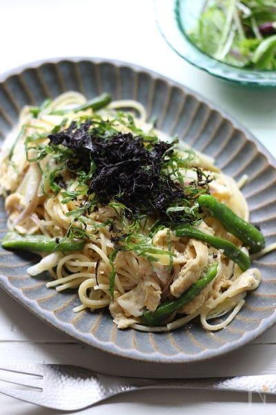 香味野菜の和風クリームパスタ