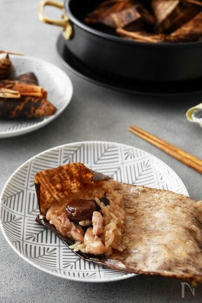 5.鶏肉と栗の中華ちまき