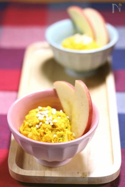 アップル&アーモンドで かぼちゃのサラダ