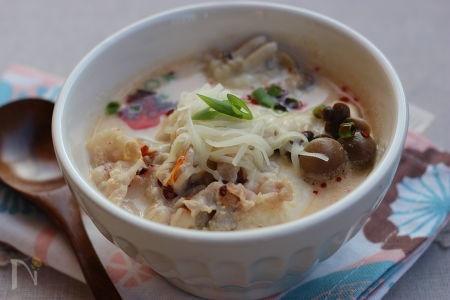 1. 豆乳キムチスープ