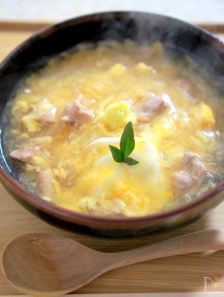 生姜たっぷりの鶏卵うどん
