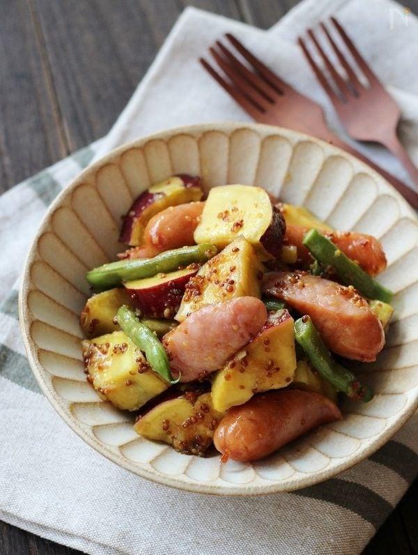 さつま芋とソーセージのホットサラダ