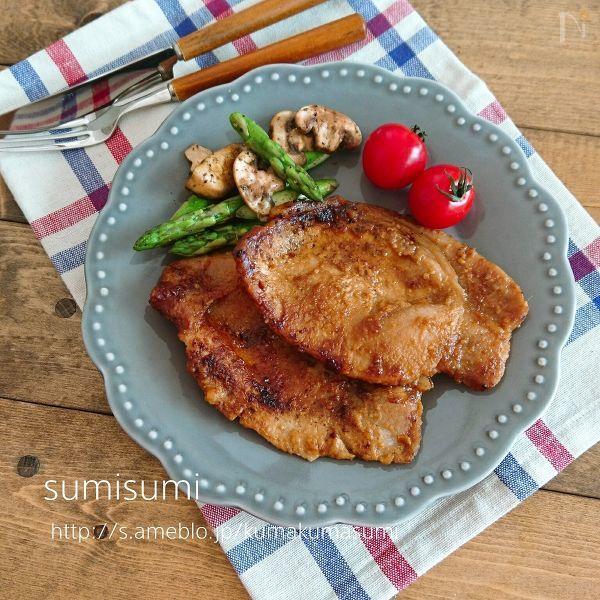 豚肉のピリ辛味噌漬け焼き