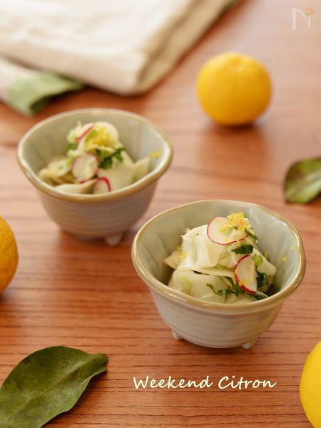 3. カブとホタテの柚子サラダ