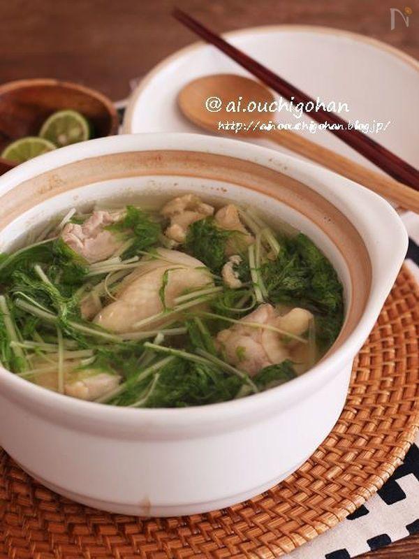 鶏塩スープ煮