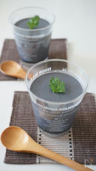 生クリーム不使用、濃厚黒ごまプリン