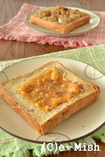 【ココナッツオイル】くるみとチーズのハニートースト