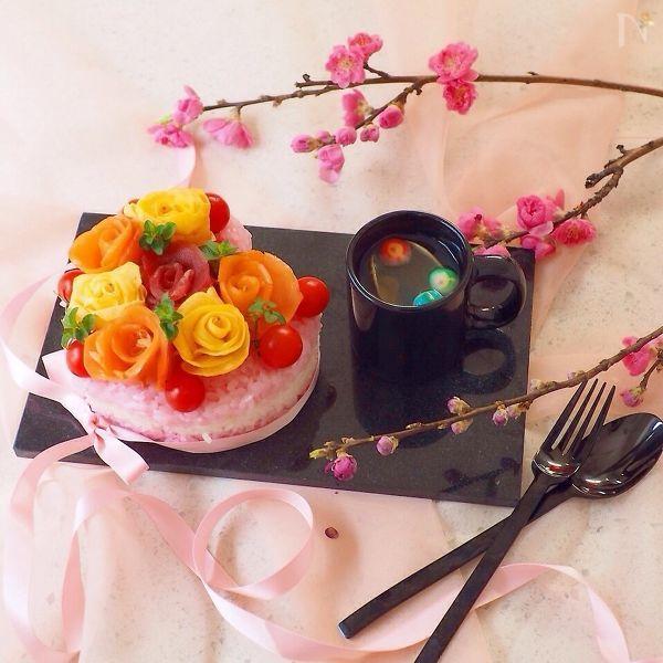 女の子のためのお花寿司