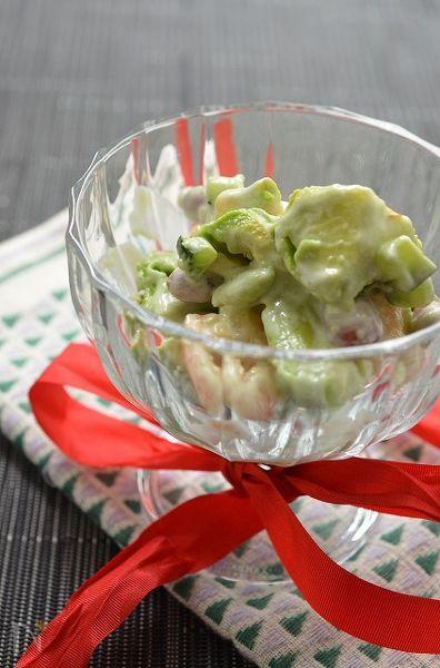 えびとアボカドお豆さんのくり~み~サラダ