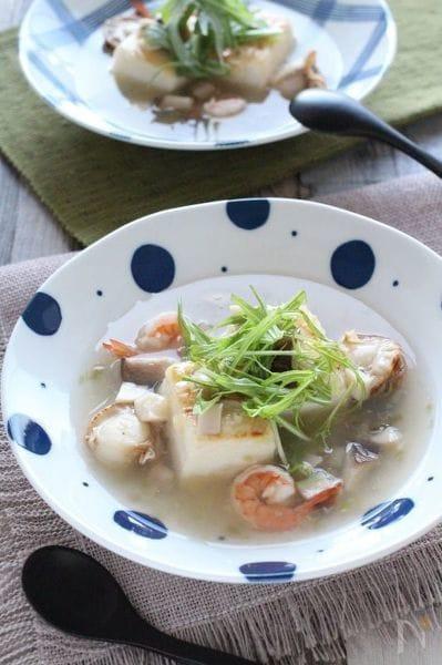 3. 豆腐の海鮮スープ