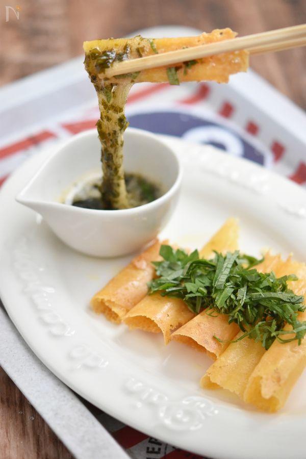 がごめ昆布きざみとカリカリチーズ