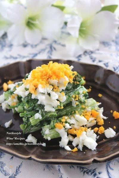 3. 菜の花のクリーミーミモザサラダ