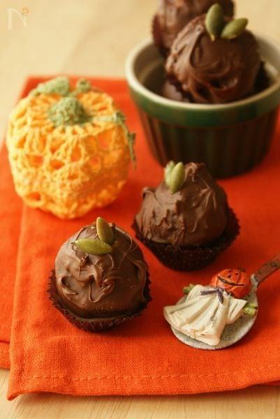 Happy Halloween♪~ パンプキントリュフチョコ