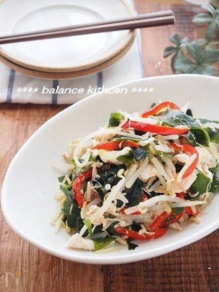 ダイエットにも。しっとりささみとわかめの中華風サラダ