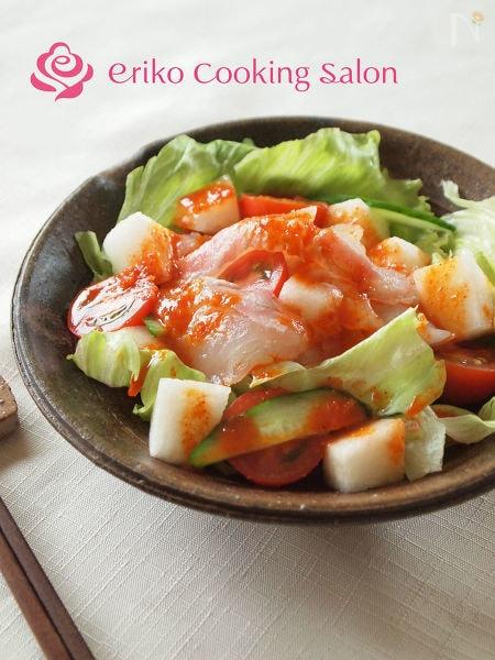 4. 鯛と梨のピリ辛サラダ