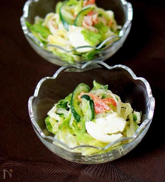 4. レタスとカニカマの春雨サラダ