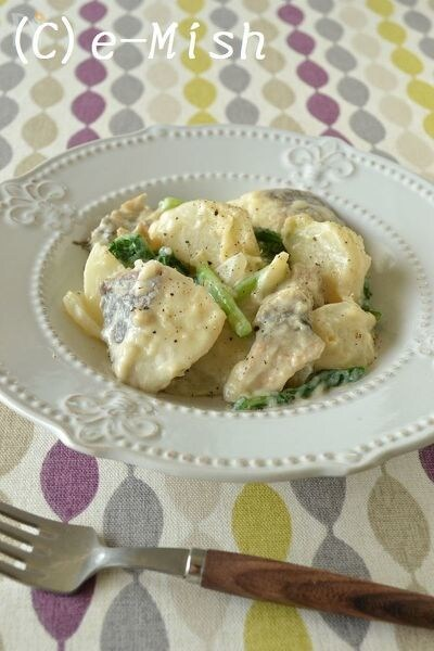 【ココナッツオイル】鱈とかぶの豆乳クリーム煮
