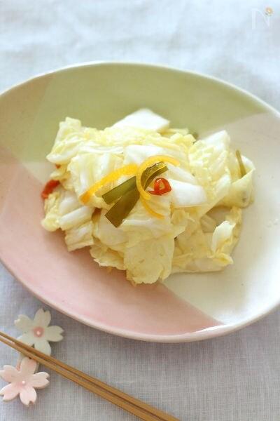 めんつゆで作る簡単【白菜の浅漬け】