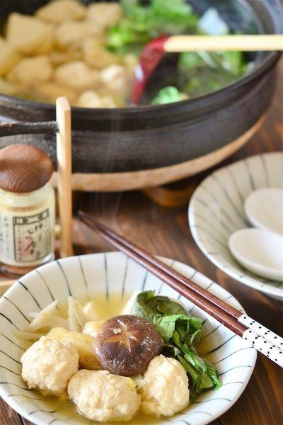 鶏団子の醤油ちゃんこ風鍋