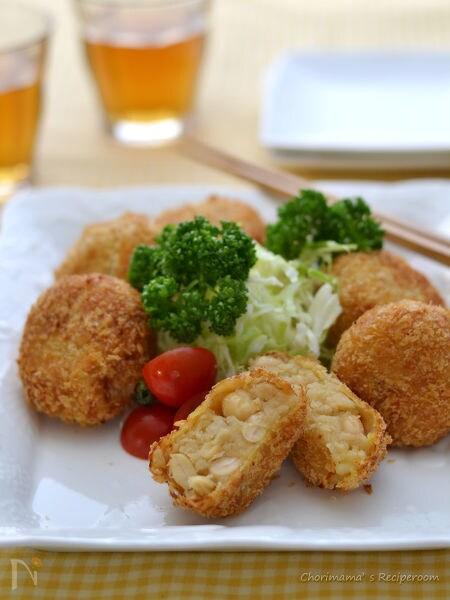 大豆とじゃがいものコロッケ(ゆで大豆・大豆煮)