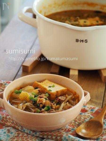 4.豚キムチスープ