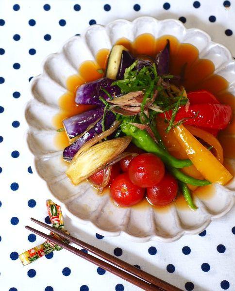 夏野菜の上げ浸し