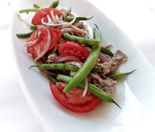 豚こま肉とカラフル野菜のマリネ