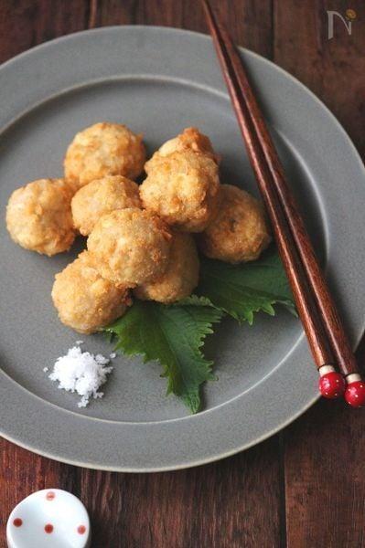 レンコンお豆腐団子。