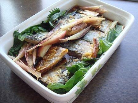 鯖の干物のめんつゆ漬け