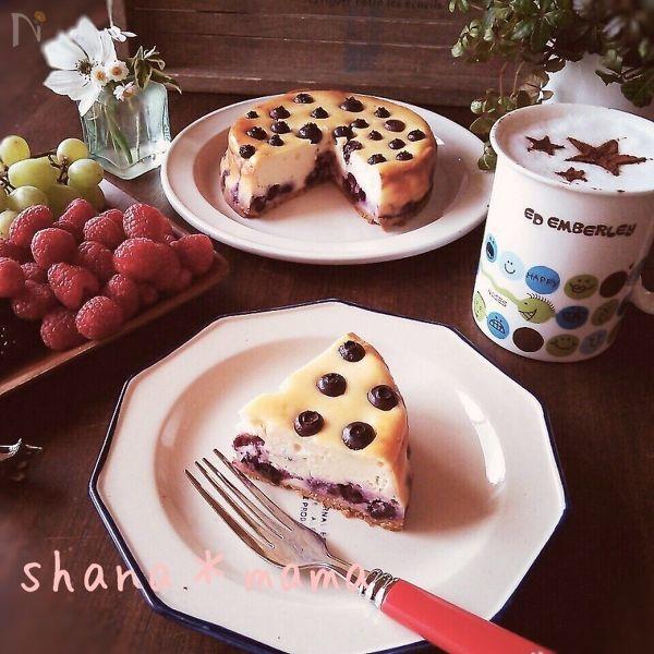 3 ブルーベリーチーズケーキ