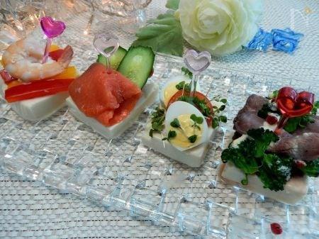 塩麹漬け豆腐のピンチョス by 優子さん