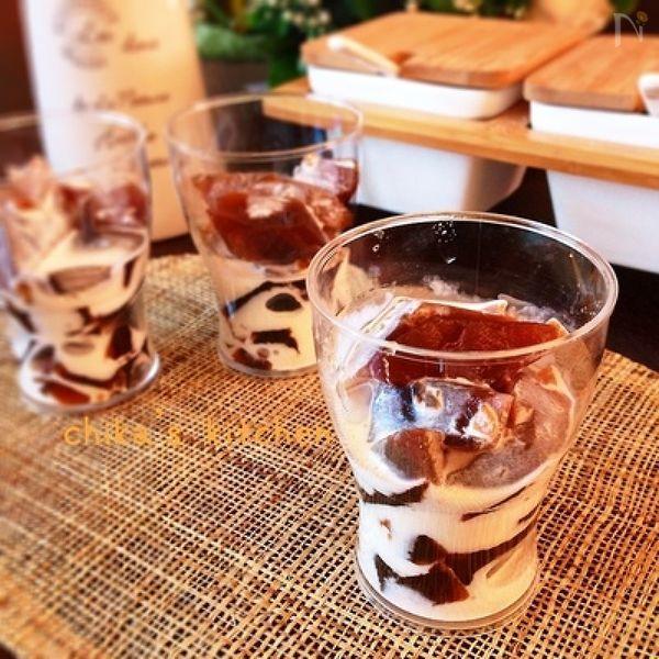 4. コーヒーゼリーみたいなわらび餅