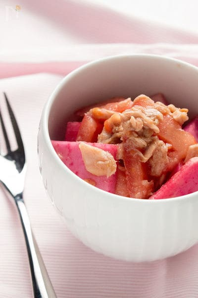 和えるだけ 赤カブとトマトのツナサラダ
