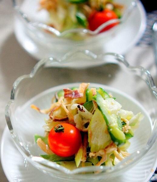 1. セロリとさきいかのサラダ