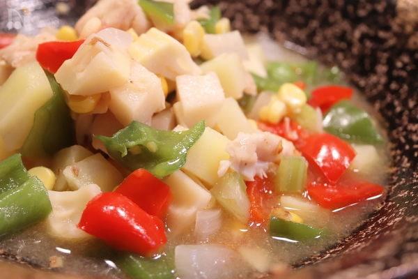 中華風 筍と鶏胸肉の旨煮込み