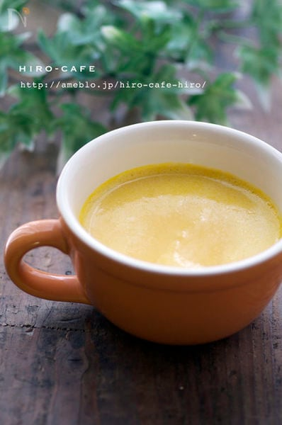 かぼちゃと豆乳の冷製スープ☆
