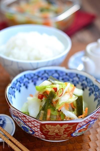 昆布と白菜の即席浅漬け【作りおき】