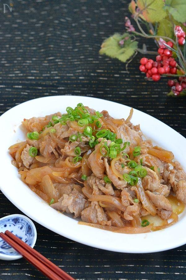 豚こま切れ肉と玉ねぎのピリ辛炒め【作り置き】