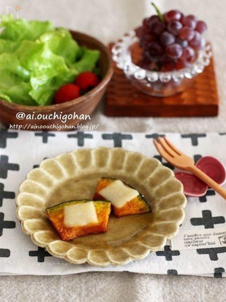 忙しい朝も常備菜があれば1分で準備完了♡かぼちゃのチーズ焼き