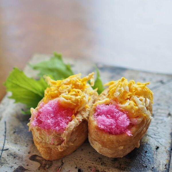 パルミジャーノ・チーズ混ぜご飯★飾り稲荷寿司