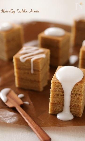 フライパンで簡単!ミルクティバームクーヘン