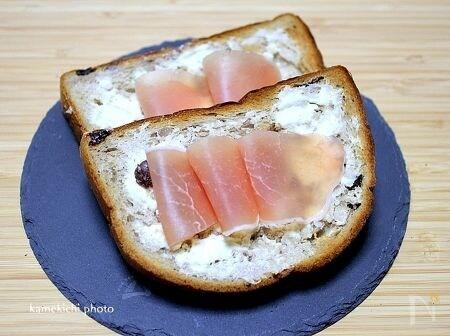生ハム×クリームチーズトースト