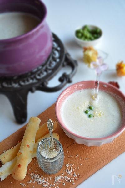 新玉ねぎを食べる春のスープ